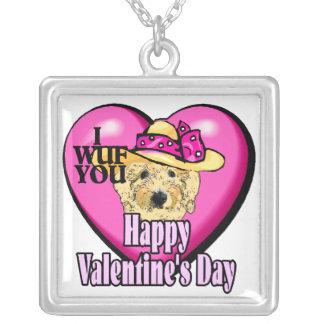 Regalos del día de San Valentín de Goldendoodle Collares Personalizados