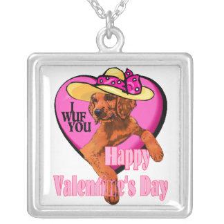 Regalos del día de San Valentín de Irish Setter Pendiente Personalizado