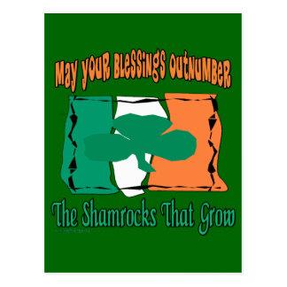 Regalos del día de St Patrick de la diversión Tarjetas Postales