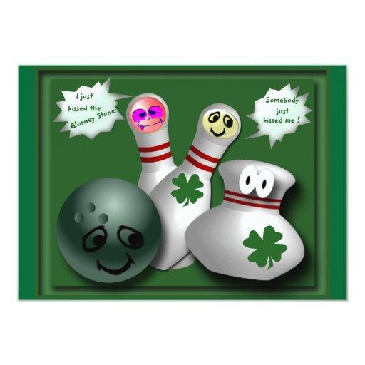"""Regalos del día de St Patrick del irlandés Invitación 5"""" X 7"""""""