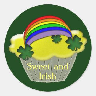 Regalos del día de St Patrick del irlandés Pegatina Redonda