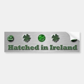 Regalos del día de St Patrick del irlandés Pegatina Para Auto