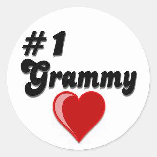 Regalos del día del abuelo de #1 Grammy Pegatina Redonda