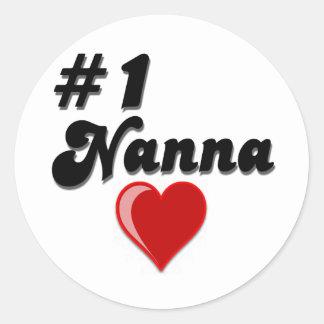 Regalos del día del abuelo de #1 Nanna Pegatina Redonda