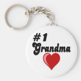Regalos del día del abuelo de la abuela #1 llavero redondo tipo pin