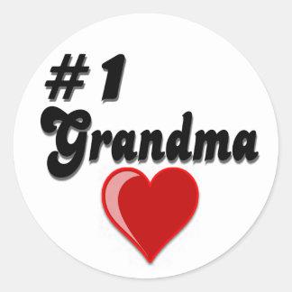 Regalos del día del abuelo de la abuela #1 pegatinas redondas