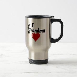 Regalos del día del abuelo de la abuela #1 taza de viaje