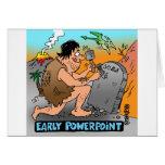 Regalos del dibujo animado del PowerPoint Tarjeton