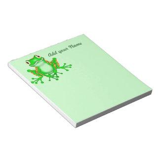 Regalos del diseño de la rana para las libretas de libretas para notas