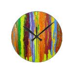Regalos del diseño del arte abstracto de los color relojes