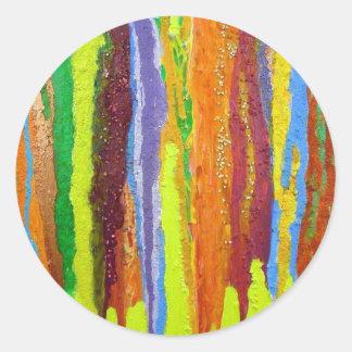 Regalos del diseño del arte abstracto de los pegatina redonda