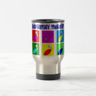 Regalos del diseño del arte pop del terapeuta resp taza de café