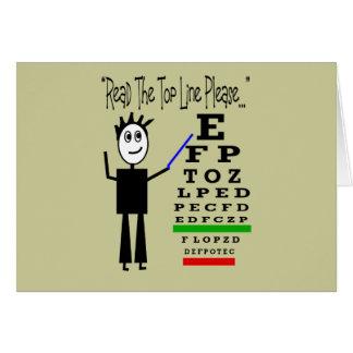 Regalos del diseño del oculista de la carta de ojo tarjeta de felicitación