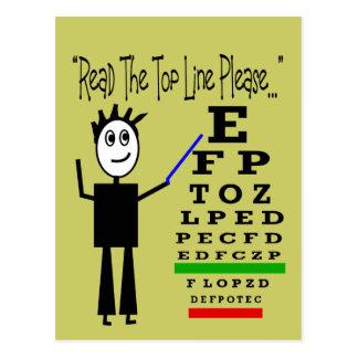 Regalos del diseño del oculista de la carta de ojo tarjetas postales