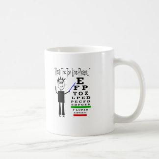 Regalos del diseño del oculista de la carta de ojo tazas de café