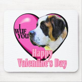 Regalos del el día de San Valentín de St Bernard Alfombrillas De Raton