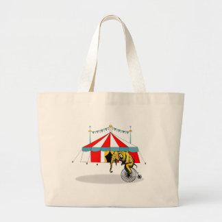 Regalos del elefante del circo bolsa tela grande