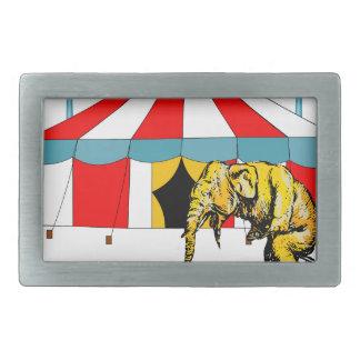 Regalos del elefante del circo hebillas cinturon rectangulares
