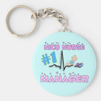 Regalos del encargado de la enfermera de NICU Llavero Redondo Tipo Pin