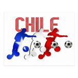 Regalos del equipo de fútbol de los jugadores de tarjetas postales