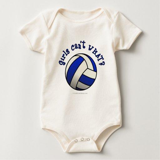 Regalos del equipo del voleibol - azul mameluco