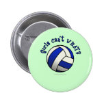 Regalos del equipo del voleibol - azul pin