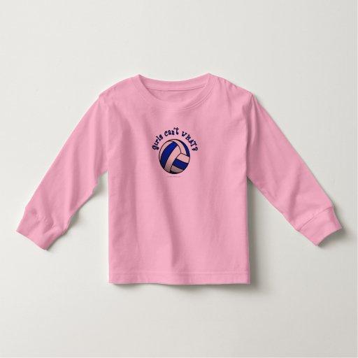 Regalos del equipo del voleibol - azul playera de bebé