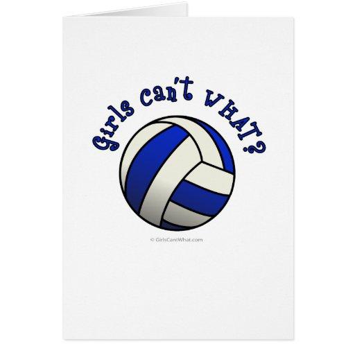Regalos del equipo del voleibol - azul tarjeta de felicitación