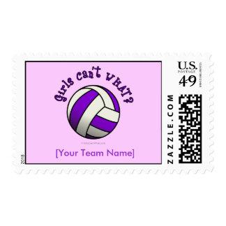 Regalos del equipo del voleibol - púrpura