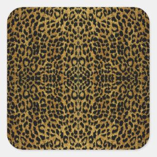 Regalos del estampado leopardo del Rockabilly de Pegatina Cuadrada