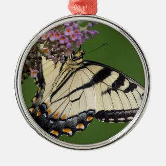 Regalos del este de la mariposa de Swallowtail del Adorno Navideño Redondo De Metal