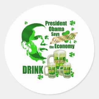 Regalos del estímulo de la cerveza de la bebida de pegatina redonda