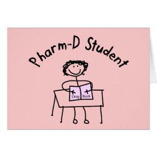 Regalos del estudiante de la farmacia de PharmD Tarjeta