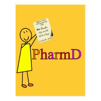 Regalos del estudiante de la farmacia de PharmD Tarjetas Postales