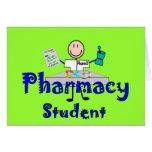 Regalos del estudiante de la farmacia tarjeta