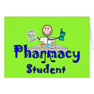 Regalos del estudiante de la farmacia tarjeta de felicitación