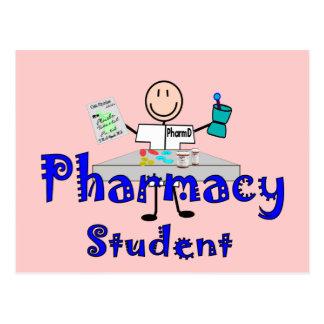 Regalos del estudiante de la farmacia tarjeta postal
