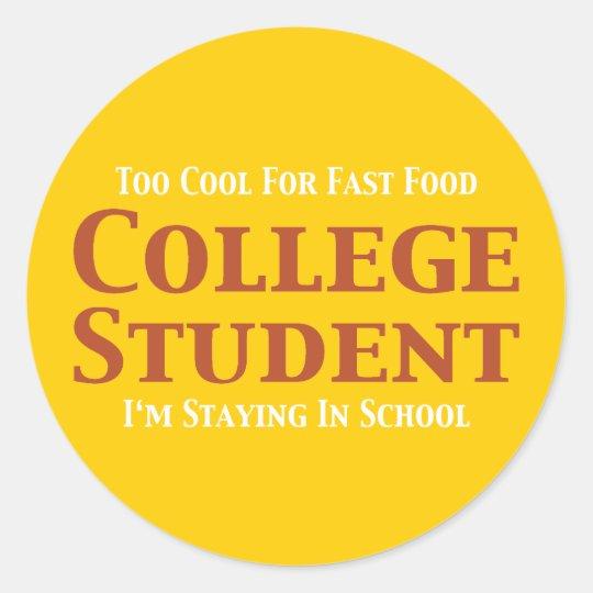 Regalos del estudiante universitario pegatina redonda