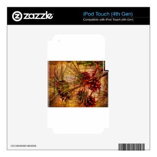 Regalos del extracto de la aguja del pino iPod touch 4G skin