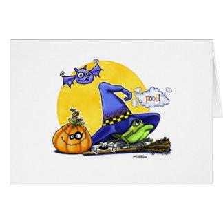 Regalos del feliz Halloween Felicitacion