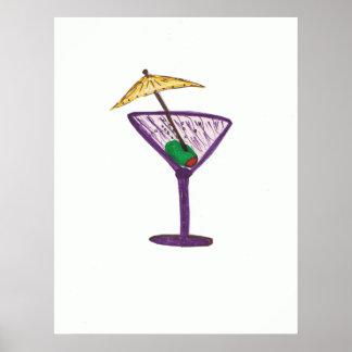 Regalos del fiesta de Martini Bachelorette/bachelo Póster
