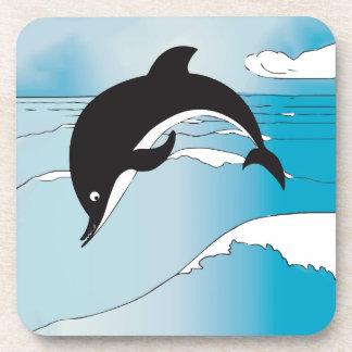 Regalos del fiesta del delfín posavasos de bebida