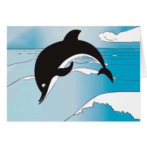 Regalos del fiesta del delfín tarjeta de felicitación
