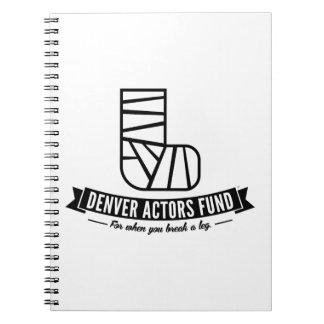 Regalos del fondo de los actores de Denver Libros De Apuntes Con Espiral
