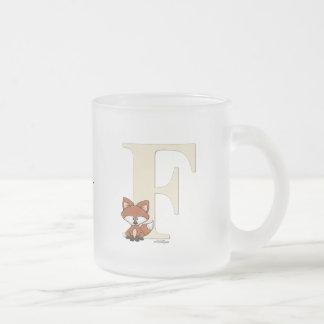 Regalos del Fox del alfabeto para el bebé Tazas De Café
