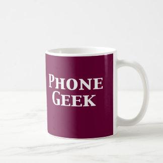 Regalos del friki del teléfono tazas de café