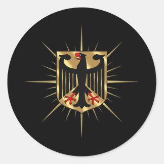 Regalos del fútbol de Alemania de la insignia de A Etiquetas Redondas