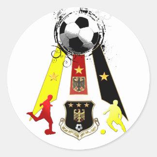 Regalos del fútbol de Deutschland Fusbball Alemani Etiqueta Redonda