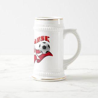 Regalos del fútbol de la bandera de Dinamarca del  Taza
