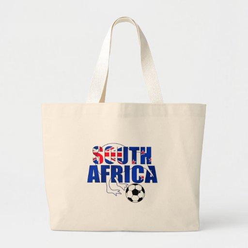 Regalos del fútbol de Suráfrica de la bandera de N Bolsa Tela Grande